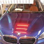 ガラスコーティング&フィルム施工、BMW218d入庫。