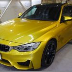 ガラスコーティング施工、BMW M3が入庫しておりました。