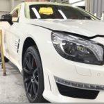 Diamond9Hセラミックコーティング施工、ベンツSL63 AMG。