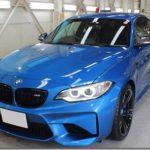 ガラスコーティング施工、BMW M2入庫しておりました。