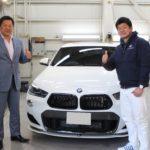 ガラスコーティング 元プロ野球選手 山﨑武司様 BMW  X2 新車入庫です。