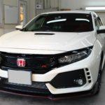 ガラスコーティング 愛知県豊田市より シビックタイプR 新車 入庫です。