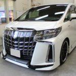 ガラスコーティング 名古屋市港区より トヨタ アルファード 新車入庫です。