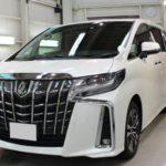 ガラスコーティング 愛知県豊田市より アルファード 新車 入庫です。