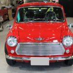ガラスコーティング 愛知県長久手市より 往年の名車 ローバーMINI 入庫です。