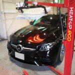 ガラスコーティング 名古屋市千種区より ベンツ AMG  E63 入庫です。