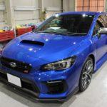 ガラスコーティング 愛知県豊田市より スバル WRX  STI 新車 入庫です。