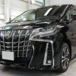 ガラスコーティング 名古屋市天白区より トヨタ アルファード 新車 入庫です。