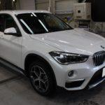 ガラスコーティング 愛知県常滑市より BMW X1 新車 入庫です。