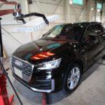 ガラスコーティング 愛知県刈谷市より Audi  Q2 入庫です。