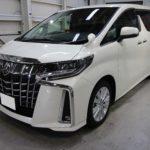 ガラスコーティング 愛知県豊田市より トヨタ アルファード 新車 入庫です。