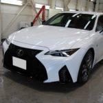 ガラスコーティング 愛知県豊田市より 新型 LEXUS IS300 新車 入庫です。