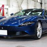 ガラスコーティング 漆青のフェラーリ・ローマ ×「WELLA High-Q」より美しく輝く。