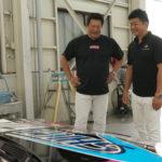 山﨑武司さんレースカーへのレース特別仕様のDiamond9h施工