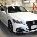 ガラスコーティング 名古屋市天白区より クラウンRS GR 新車入庫です。