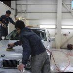 ガラスコーティング、BMW7シリーズ(シルバーカラー)が入庫。