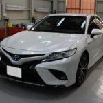 ガラスコーティング 静岡県磐田市より トヨタ  カムリ 新車入庫です。