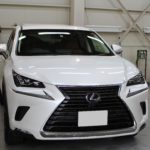 ガラスコーティング  名古屋市昭和区より レクサス NX300h 新車入庫です。