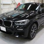 ガラスコーティング 岐阜県より BMW X4 新車入庫です。