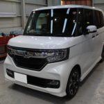 ガラスコーティング 滋賀県彦根市より N-BOX カスタム 新車 入庫です。