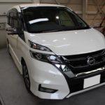 ガラスコーティング 名古屋市北区より セレナe-power 新車入庫です。