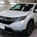 ガラスコーティング  愛知県小牧市より ホンダ CR-V 新車入庫です。
