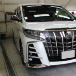 ガラスコーティング  名古屋市熱田区より アルファード 新車入庫です。