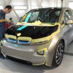 ガラスコーティング施工、新車BMW i3が入庫しました。