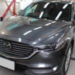 ガラスコーティング 東海市より 新車CX-8 入庫してました