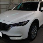 ガラスコーティング 瀬戸市より 新車のCX-8 入庫していました
