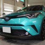 ガラスコーティング 名古屋市中川区より C-HR 新車 入庫です