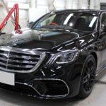 ガラスコーティング 名古屋市天白区より ベンツS63 AMG 新車入庫です。