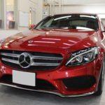 ガラスコーティング 愛知県日進市より ベンツ C180 新車入庫です。