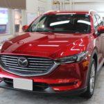 ガラスコーティング 愛知県豊田市より マツダ CX-8 新車入庫です。