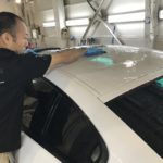 BMW 640i  コーティング職人 白土作業中