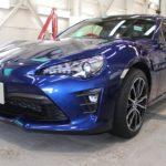 ガラスコーティング 名古屋市昭和区より トヨタ86 新車入庫です。