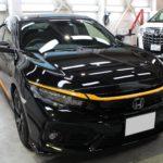 ガラスコーティング 名古屋市緑区より シビック  新車入庫です。