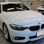 ガラスコーティング 名古屋市瑞穂区より BMW 420i グランクーペ 新車 入庫です。