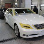 ガラスコーティング、レクサス車(LS460 / IS300h)の施工が完了。
