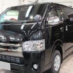 ガラスコーティング 愛知県岡崎市より ハイエース スーパーGL 新車入庫です。