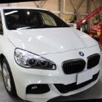 ガラスコーティング施工、BMW218i アクティブツアラーが入庫。