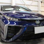 ガラスコーティング 愛知郡東郷町より トヨタ MIRAI 新車入庫です。