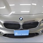 ガラスコーティング施工、BMW 218dが入庫していました。